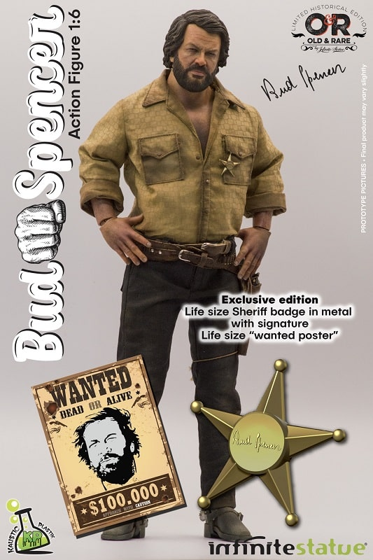 BUD SPENCER WEB EXCLUSIVE Action Figure 31cm 1/6 Bambino Trinità Old And Rare Infinity Statue LIMITED