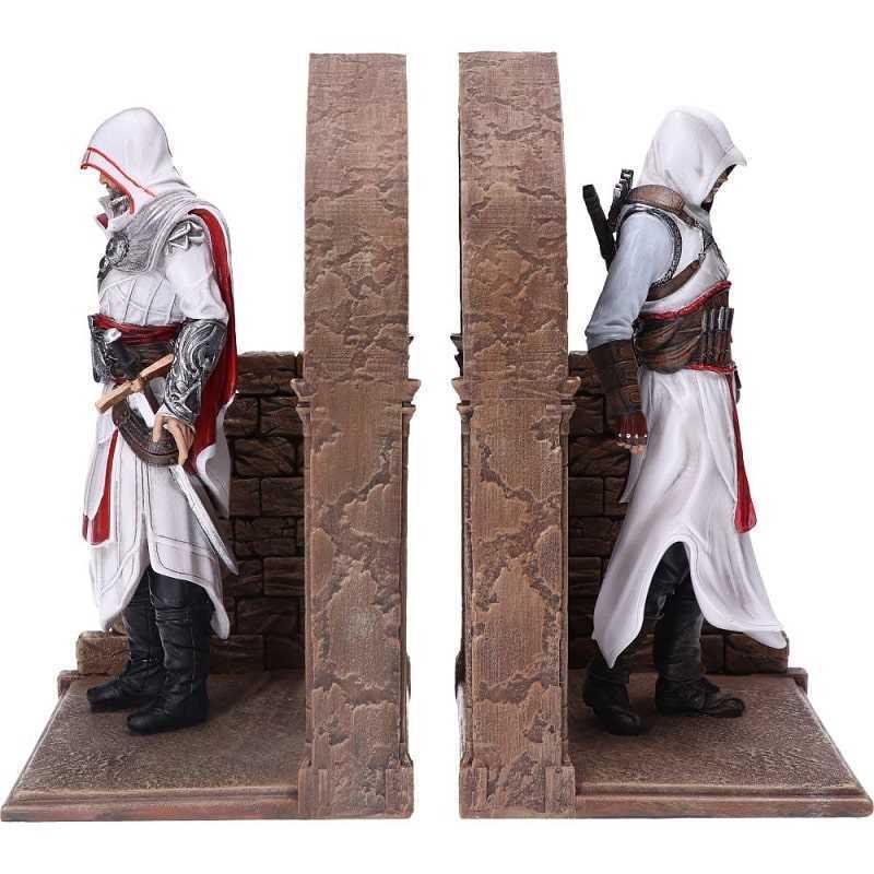 ASSASSIN'S CREED - ALTAIR e EZIO Fermalibri Statue Figure in Resina 24cm Bookends - Nemesis Now