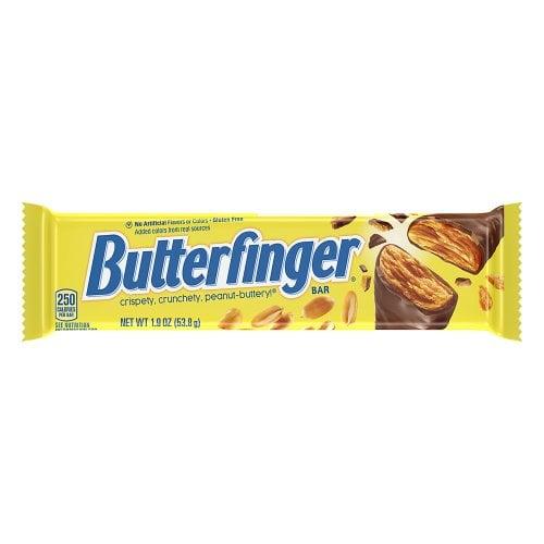 BUTTERFINGER Barretta a Sfoglie Caramello Arachidi e Cioccolato 53g Snack Americano Dolce