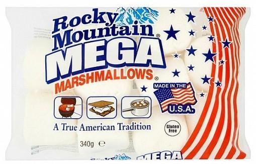 ROCKY MOUNTAIN MARSCHMALLOWS Formato MEGA Classici Americani Senza Glutine Snack Dolce