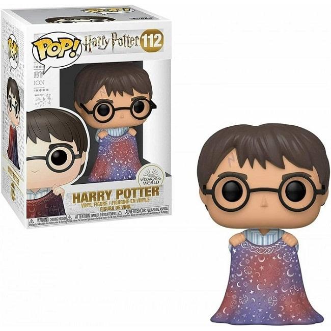 Funko POP! Harry Potter #111 HARRY CON MANTELLO INVISIBILITA' con PROTECTOR BOX Figure in Vinile 9 cm