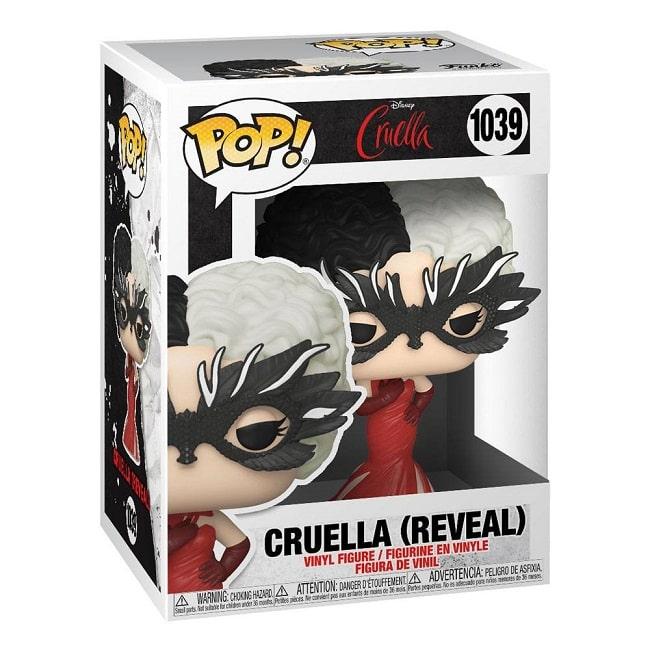 Funko POP! Disney Cruella #1039 CRUDELIA CRUELLA (RELEAL) con PROTECTOR BOX Figure in Vinile 9cm