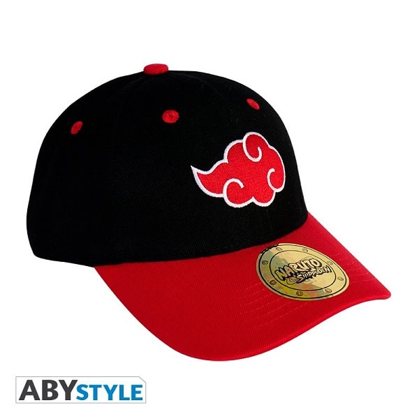 NARUTO SHIPPUDEN - AKATSUKI - Berretto Cappello Taglia Unica Regolabile Visiera Curva - Baseball Cap