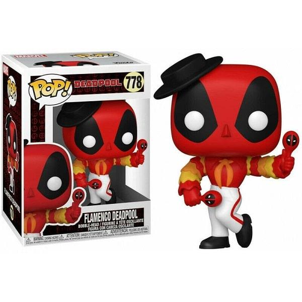Funko Pop! - Marvel #778 FLAMENCO DEADPOOL con PROTECTOR BOX Figure in Vinile 9cm