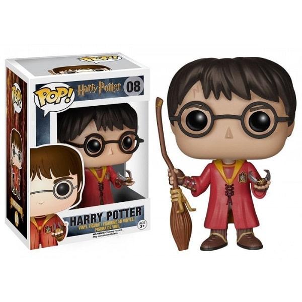 Funko POP! Movies - Harry Potter #08 HARRY POTTER QUIDDITCH con PROTECTOR BOX Figure in Vinile 9cm