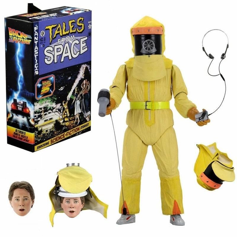 Neca - RITORNO AL FUTURO Ultimate MARTY McFLY Tales From Space Action Figure 18cm con Accessori Box DeLuxe