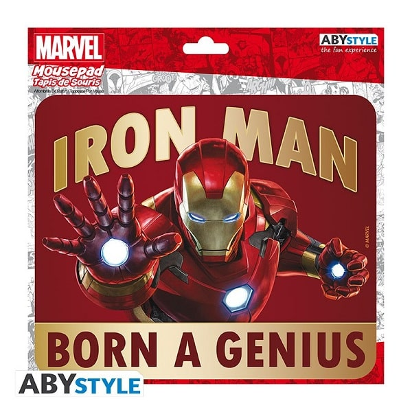 MOUSEPAD - MARVEL IRON MAN Tappetino Per Mouse 24x20cm in Tessuto - Abystyle