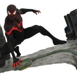 Marvel Gallery - MILES MORALES SPIDER-MAN Statua Diorama in PVC 18-25 cm - Diamond Select