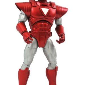 Marvel Select - IRON MAN SILVER CENTURION - Action Figure 18cm Articolata con Accessori Diamond Select Armatura Rosso-Argento