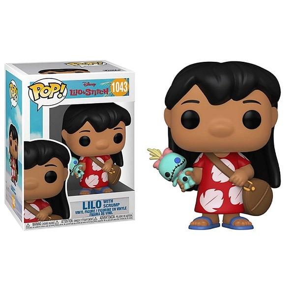 Funko Pop! Disney - Lilo e Stitch #1043 LILO con SCRUMP con PROTECTOR BOX Figure in Vinile 9cm