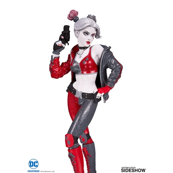 HARLEY QUINN RED WHITE BLACK by Joshua Middleton Statua in Resina 20 cm DC Collectibles