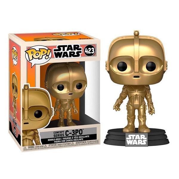 Funko Pop! - Star Wars #423 C-3PO CONCEPT SERIES con PROTECTOR BOX Figure in Vinile 9cm
