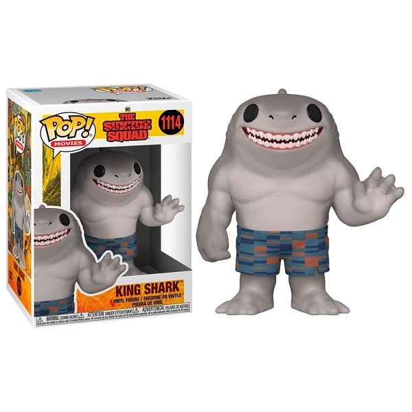 Funko Pop! Movies - Suicide Squad #1114 KING SHARK con PROTECTOR BOX Figure in Vinile 9cm