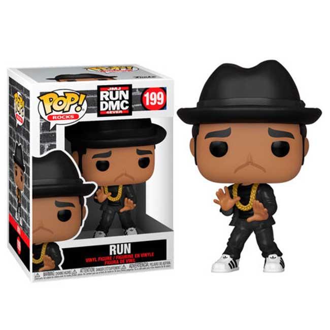 Funko Pop! Rocks - JMJ RUN DMC 4EVER #199 RUN con PROTECTOR BOX Figure in Vinile 9cm
