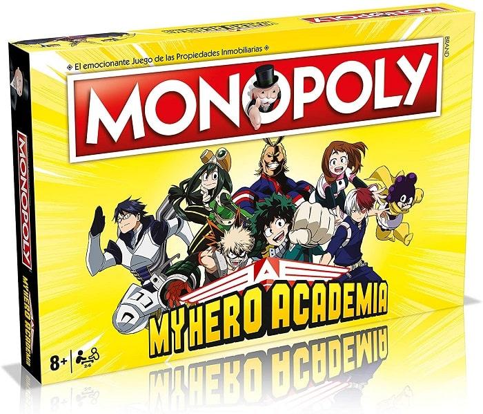 MONOPOLY - MY HERO ACADEMIA Gioco da Tavolo in Italiano 2-6 Giocatori Età 8+ Hasbro Gaming