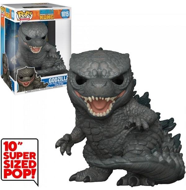 "Funko Pop! 25cm - Godzilla Vs Kong #1015 GODZILLA Super Sized 10"" Figure in Vinile"